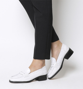 Office Fashion Show- Square Toe Loafer WHITE CROC LEATHER