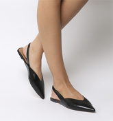 Office Fritz Point Slingback BLACK LEATHER
