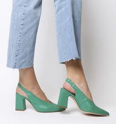 Office Mimi Chunky Slingback JADE GREEN LEATHER