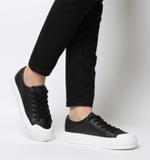 Office Fro Yo Chunky Sole Lace Up BLACK