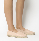 Office Freckle Contrast Stitch Espadrille PINK LEATHER