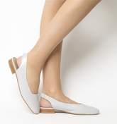 Office Fluke Square Toe Slingback GREY LEATHER