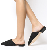 Office Fluttering Woven Point Mule BLACK