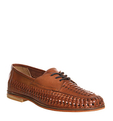 Office Brixton Weave Lace TAN HI SHINE LEATHER