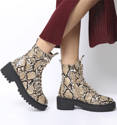 Ego Kris Lace Boot NUDE SNAKESKIN