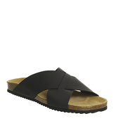 Office Fiji Cross Strap Sandal NEW YORK BLACK