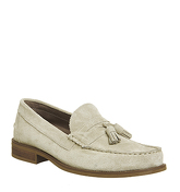 Ask the Missus Bonjourno Tassle Loafer BEIGE SUEDE