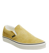 Vans Classic Slip On SUNFLOWER SNOW WHITE HAIRY SUEDE