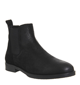 Office Cage Chelsea Boots BLACK WAXY SUEDE