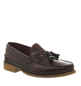 Ask the Missus Bonjourno Tassel loafers BORDO HI SHINE LEATHER