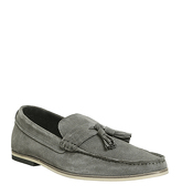Office Favour Tassel Loafer GREY SUEDE