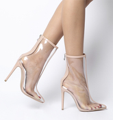 Ego Selina Clear Boot NUDE