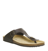 Office Delhi Toepost Sandal DARK BROWN