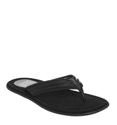Ask the Missus Floyd Thong Sandal BLACK LEATHER
