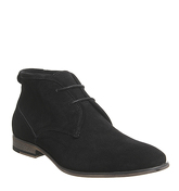 Office Impact Chukka BLACK SUEDE