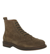 Office Interpreter Brogue Boot KHAKI SUEDE