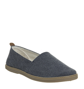 Office Hanoi Espadrille NAVY WASHED CANVAS