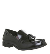 Ben Sherman Loco Tassle Loafer BLACK HIGH SHINE