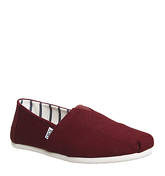 Toms Classic BLACK CHERRY HERITAGE CANVAS