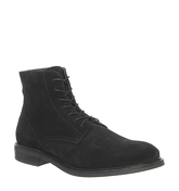 Office Insect Lace Boot BLACK SUEDE