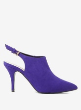 Womens Purple Microfibre Greta Shoe Boots- Purple, Purple