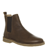 Office Inferno Chelsea Boot DARK TAN LEATHER