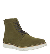 Ask the Missus Inflict Lace Boot KHAKI SUEDE
