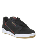 adidas Continental 80 S CORE BLACK RED GREY GUM TFL
