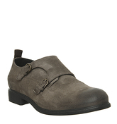 Ask the Missus Indent Monk DARK KHAKI SUEDE