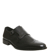 Office Import Brogue Monk BLACK LEATHER