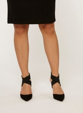 Womens Black 'Eliza' Court Shoes- Black, Black