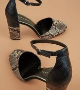 Navy Colour Block Faux Snakeskin Sandals New Look