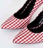 Red and White Gingham Check Print Courts New Look