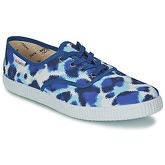 Victoria  INGLESA ESTAMP HUELLA TIGRE  women's Shoes (Trainers) in Blue