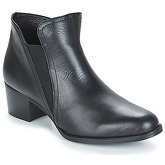 So Size  HOLI  women's Low Ankle Boots in Black