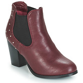 Moony Mood  JURDEAN  women's Low Ankle Boots in Red