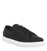 Office Floyd Lace Up Trainer BLACK SATIN