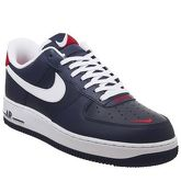Nike Air Force 1 07 OBSIDIAN WHITE UNI RED