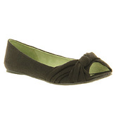 Blowfish Malibu Sanchia Peeptoe Ballerina BLACK LINEN