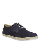 Ask the Missus Fiesta Lace Up Espadrille NAVY SUEDE