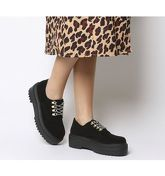 Office Fiction Chunky Hiker Lace Up BLACK SUEDE