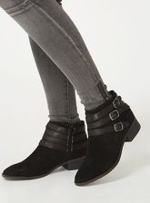 Womens Black 'Avalon' Ankle Boots- Black