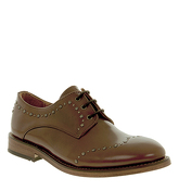Hudson London Arquette Stud Wing Tip TAN LEATHER