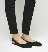Office Frappe Slingback Flats BLACK