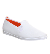 Flossy Madrid Flossy Slip On WHITE LEATHER