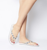 UGG Simi Graphic Flip Flop WHITE