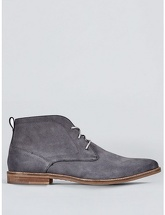 Mens Grey Suede Desert Boots, GREY