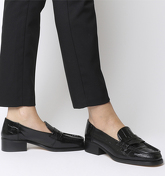 Office Fashion Show- Square Toe Loafer BLACK CROC LEATHER