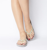 UGG Simi Graphic Flip Flop OYSTER