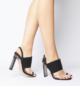 Office Heatwave Transparent Heel With Toe Loop BLACK